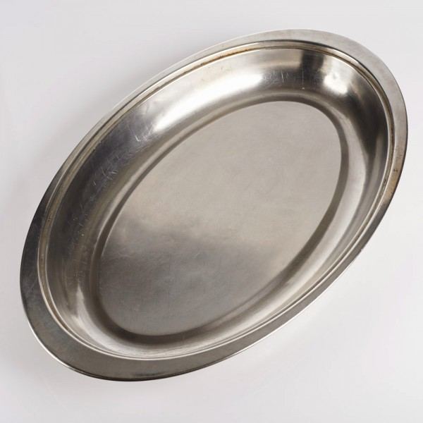 "20"" Oval Dish, Stainless Steel"