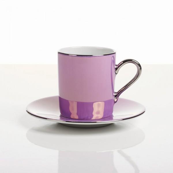 Raspberry Coffee Can & Saucer